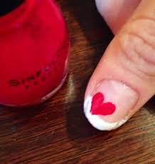 tutorial valentine u0027s day hearts u0026 french tips nails for nickels