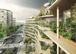 Urban Garden Los Angeles Lush Green Oasis And Rooftop Farm Will Reinvent Paris Streets
