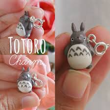 Polymer Clay Home Decor Kawaii Totoro Charm Polymer Clay Charms Cell Phone Charm