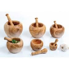 mortier de cuisine mortier et pilon en bois olivier moulin cuisine cadeau mortier bois