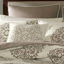 Sateen Duvet Cover King Stone Cottage Medallion Cotton Sateen Duvet Cover Set King