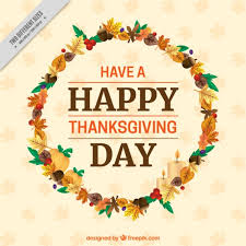 wreath of leaves background with a greeting message of