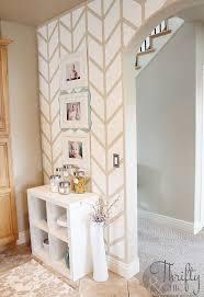 herringbone pattern accent wall hometalk