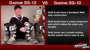 best motocross boot dogfight gaerne sg 10 vs gaerne sg 12 motocross boots youtube