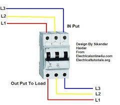 3 phase breaker wiring connection in urdu hindi electrical