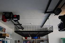 How To Build Garage Storage Lift by Amazon Com Ceiling Storage Lift Raises 500 Pounds Of Your Items