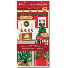 fireplace scene setter christmas decorating kit