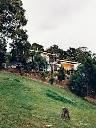 homes built into hillside hillside family home in australia dwell