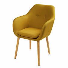 fauteuil de la maison fauteuil maison du monde 2 fauteuil en tissu jaune moutarde