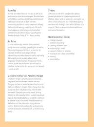 Nanny Resume Templates Free Nanny Job Description The Perfect Special Needs Nannyevery Child