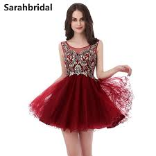 aliexpress com buy burgundy cheap prom dresses with illusion