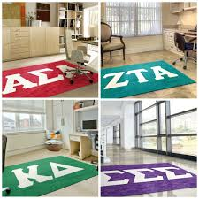 Custom Made Area Rugs Four Sororities Founded At Longwood University Rug Rats