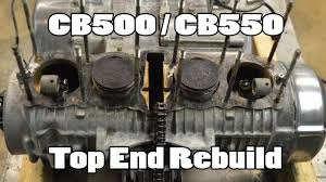 how to cb500 cb550 top end rebuild youtube