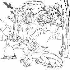 11 best images of scary dragon coloring pages free printable