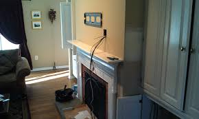 articles with hiding tv wires fireplace tag superb hiding tv