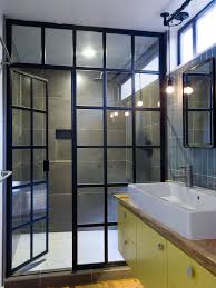 Industrial Awning Frameless Shower Doors Cost Bathroom Transitional With Awning