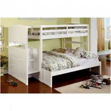 White Bunk Bed With Stairs Foter - Joseph maple bunk bed