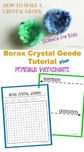 how to make a borax crystal geode science projects for kids