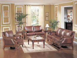 Traditional Living Room Ideas by Engaging Living Room Ideas With Traditional Leather Furniture Sets