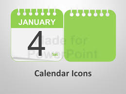 calendar icons editable powerpoint templates