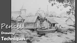 how to draw beautiful drawing pencil drawing techniques how to draw a beautiful landscape