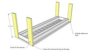 Deck Storage Bench Plans Free by Ana White Build A Simple Outdoor Bench Diy Projects