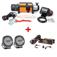 round led driving lights domin8r x 12 000lb winch with illuminator 7 round led