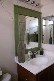 diy bathroom mirror frame ideas bathroom framed twin bathroom