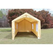 Carport Canopy Heavy Duty King Canopy Tan A Frame Enclosed Carport With Awning 10 X 20 Ft