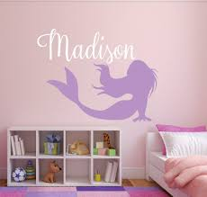 compare prices on princess vinyl online shopping buy low price custom name mermaid vinyl wall stickers for kids room princess girl s bedroom wall art decals nursery