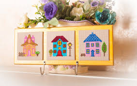 Key Home Decor Key Holder Wall Home Decor Key Rack Embroidery Cross Stitch