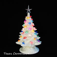 turtle dove lights white ceramic tree tabletop 11