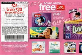 2017 black friday target diaper deal free 20 target gift card with 125 baby purchase starting 1 8