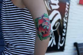 thug tattoos for girls elbow rose tattoo design for girls tattoobite com