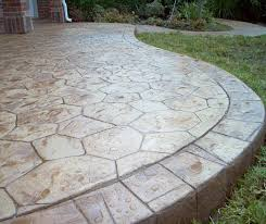 Sted Concrete Patio Design Ideas The Flagstone Pattern With The Rectangle Border All Sted