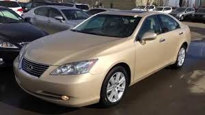 lexus sedan 2007 pre owned tan on cashmere 2008 lexus es 350 4dr sdn walk around
