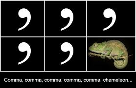 Comma Meme - commas scavenger hunt group project