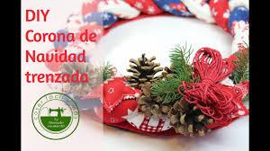 adornos de navidad diy corona trenzada sewing tutorial