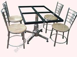 Hotel Dining Room Furniture Sske Canteen Equipments Stainless Steel Table And Chair