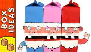 cardboard singing santa u0027s diy christmas crafts for kids youtube