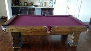 purple felt pool table log pool tables rustic billiards