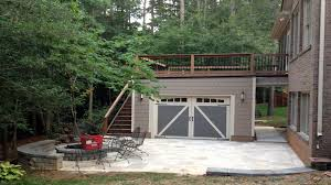 free standing garage and deck designed and built by archadeck at mountain island lake nc jpg