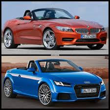 audi tt m 2015 audi tt roadster vs bmw z4 roadster photo comparison