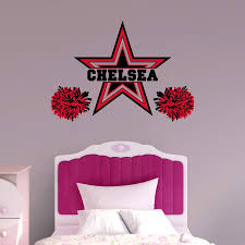 cheerleader personalized name wall decal shop fathead for wall cheerleader personalized name wall decal shop fathead for wall art decor