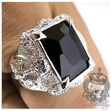 men big rings images Rings gothic rings men 39 s silver ring big black onyx dragon jpg