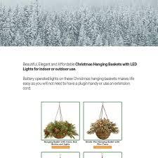 christmas hanging baskets with lights beautiful christmas hanging baskets with led lights