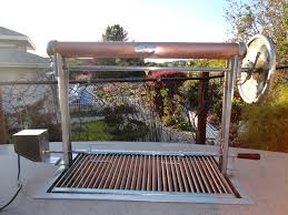 custom santa maria bbq w stainless steel frame and copper has