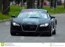 Audi R8 Black - audi r8 black front view editorial stock photo image 14217553