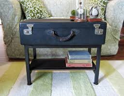 handmade black vintage trunk suitcase coffee table with storage