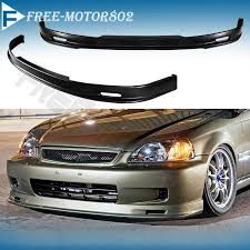 2000 honda civic spoiler front bumper lip spoiler wing bodykit pp fit honda civic ek 2 3 4